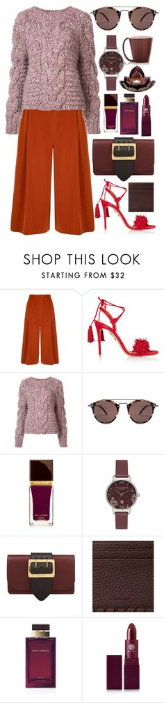 """""""Untitled #632"""" by clary94 ❤ liked on Polyvore featuring Yumi, Aquazzura, Ulla Johnson, Oliver Peoples, Tom Ford, Olivia Burton, Burberry, AllSaints, Dolce&Gabbana and Lipstick Queen"""