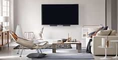 Experience everything with a cleaner image with the BeoVision 14 Ultra HD LED TV. Offering a slew of connectivity options, this TV is more like a Modern Tv Wall, Living Room Modern, Living Spaces, Diy Tv Wall Mount, Wall Mounted Tv, Lg 4k, Original Design, Bang And Olufsen, Support Mural