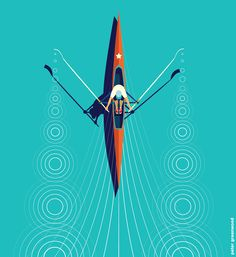 Peter Greenwood illustrator — Life is but a dream illustration Sports Art, Boat Illustration, Graphic Design Illustration, Boat Icon, Animation Portfolio, Orange Design, Remo, Collor, Graphic Design