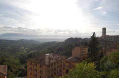 A sunny view towards the Borgo Bello neighborhood of Perugia, Italy (via juliabourque.blogspot.com)