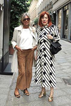 Van Chanel tot COS, dit is street style in Milaan Italy Fashion, 50 Fashion, Fashion Outfits, Fashion Ideas, European Street Style, Street Style Women, Mature Fashion, Older Women Fashion, Italian Women Style