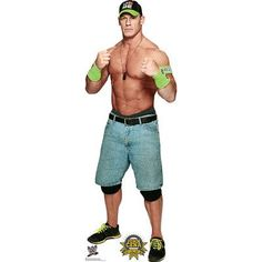 Advanced Graphics Life-size cardboard standup of John Cena - WWE. This standup is printed on cardboard, and comes with an easel that can easily be assembled for parties, photo opportunities etc. John Cena, Wrestling Superstars, Wrestling Wwe, Watch Wrestling, Shawn Michaels, Roman Reigns, Cena Wwe, Wwe Party, Catch