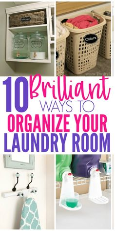 10 Laundry Room Hacks That Will Make Your Life So Much Easier - Organization Obs. 10 Laundry Room Hacks That Will Make Your Life So Much Easier – Organization Obsesssed Laundry Room Organization, Laundry Room Design, Laundry Storage, Laundry Rooms, Home Organization Hacks, Organizing Your Home, Organizing Ideas, Organization Quotes, Dollar Tree Organization