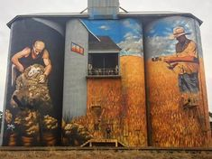 Weethall, New South Wales. 3d Street Art, Street Art Graffiti, Graffiti Artwork, Pictures To Paint, Cool Pictures, Urbane Kunst, Farm Art, Building Art, Water Tower