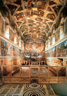 Sistine Chapel - Rome, Italy It looks so much bigger in this picture than it really is, but still absolutely breathtaking.