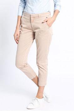 Pantaloni dama conici casual crem