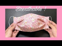 New design - breathable! How to make an easy pattern & sewing tutorial | DIY fabric mask at home - YouTube Small Sewing Projects, Sewing Projects For Beginners, Sewing Tutorials, Sewing Hacks, Dress Tutorials, Diy Mask, Diy Face Mask, Face Masks, Sewing Patterns Free