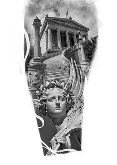 Body Art Tattoos, Tattoo Drawings, Sleeve Tattoos, Leg Tattoos, Full Tattoo, Full Sleeve Tattoo Design, Apollo Tattoo, Tiger Eyes Tattoo, Trident Tattoo