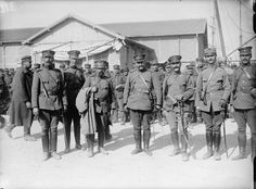 MINISTRY INFORMATION FIRST WORLD WAR OFFICIAL COLLECTION (Q 13531)   Greek officers on the Quay, Salonika.
