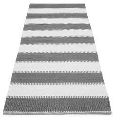 PEPPI-matto 80 x 200 cm (Harmaavalkoinen)