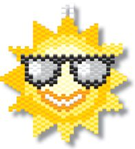 Cool Sun Bead Pattern by Megan's Beaded Designs at Bead-Patterns.com