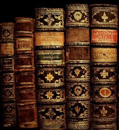 Handsome old leather bound books