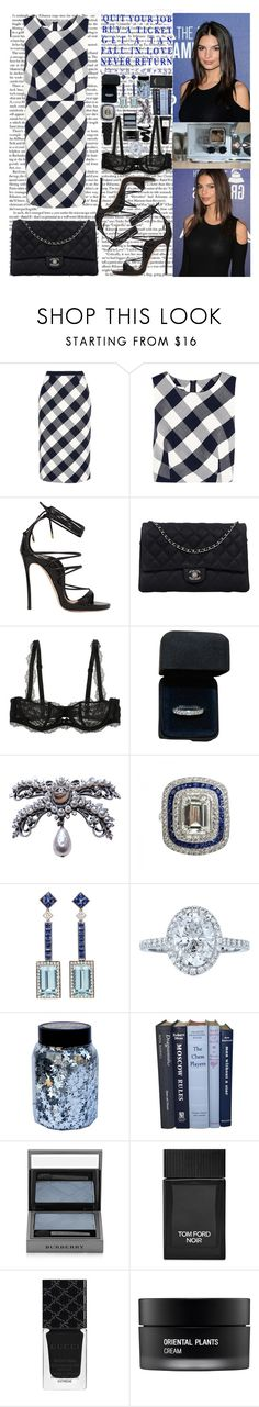"""Baby we can take it slow, say my name Don't let go, I can hear your body when I Pull your hair, what's my name Girl I swear, I can hear your body babe"" by labelsoflove ❤ liked on Polyvore featuring Oscar de la Renta, Dsquared2, Chanel, Chantelle, Tiffany & Co., CO, Burberry, Tom Ford, Gucci and Koh Gen Do"