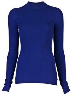 $195 T by Alexander Wang http://roanshop.com/womens-clothing/t-by-alexander-wang-thermal-pullover-indigo.html#