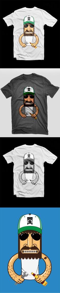 Cartoon style short sleeve shirt. Created in Ai!
