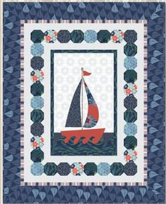Ahoy! Quilt FREE Pattern Download available at connectingthreads.com