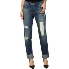 Dittos Womens Asher Relaxed Straight Navy Wax - Jeans