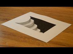 Как нарисовать простой 3D рисунок  СЕРДЦЕ карандашом / Easy 3D Drawing Heart - YouTube