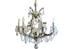 8-Arm Crystal Prism Chandelier on OneKingsLane.com    So bright and inviting.