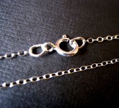 Finished Sterling Silver Cable Chain  18 or 16 by DaisyTreasures, $8.90