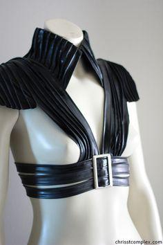 Cool steampunk-y harness. Found by Mel.