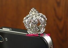 Lovely crown dustproof plug iphone 5 iphone 4  iphone 4s by hicase, $13.00