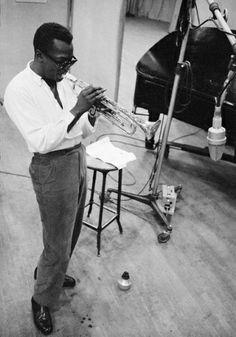 Miles Davis, 1955. Photograph: Aram Avakian