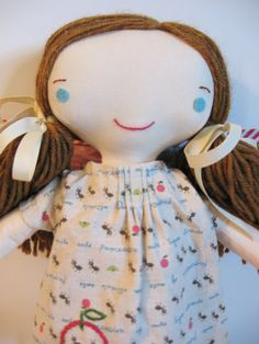Wee Wonderfuls Sweet Cloth Dressed Doll by whimsyvintage on Etsy, $68.00