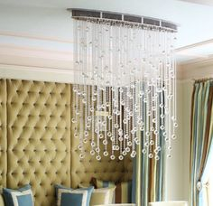 Size 40″ length – 37″ height – 7″ width Custom frame color with Clear Asfour crystals. Available in different sizes and frame colors by quote request only. *Matching wall sconces also available by quote request only.