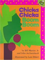 Chicka Chicka Boom Boom by Bill Martin, Jr. and John Archambault- great book that teaches letter names and sounds. From Simply Speech. Pinned by  SOS Inc. Resources.  Follow all our boards at http://pinterest.com/sostherapy  for therapy   resources.