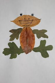 Just four days ago,me and my son went for a walk in the park.we gathered leaves and rocks.i knew in my mind what i want to do with the leave. Easy Diy Crafts, Diy Crafts For Kids, Arts And Crafts, Autumn Crafts, Nature Crafts, Letter F Craft, Forest School Activities, Amazing Frog, Leaf Projects
