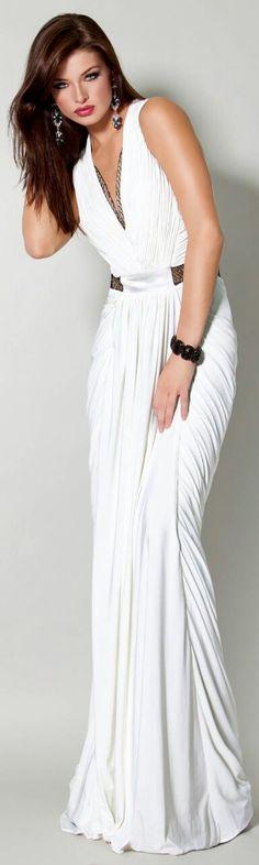 Greek Goddess white dress