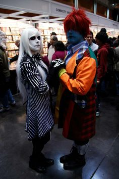 Jacqueline & Sammy - Tim Burton's The Nightmare Before Christmas Jack Skellington and Sally genderbend cosplay