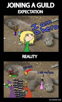 Silly comic I drew something like a year ago. XD Inspired by raiding in WoW and then RIFT.