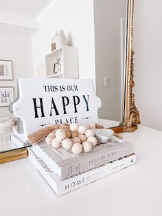 Emma Courtney: Amazon Home Decor Favourites Amazon Home Decor, Home Decor Items, Candlestick Holders, Candlesticks, Current Time, Stack Of Books, Beaded Garland, Coffee Table Books, Picture Frames