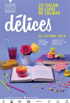 Affiche du Salon du Livre de Colmar en 2014, par Diz & Dard