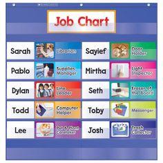 Preschool Job Chart, Preschool Jobs, Classroom Job Chart, 2nd Grade Classroom, Classroom Supplies, Classroom Organization, Classroom Management, Classroom Ideas, Future Classroom