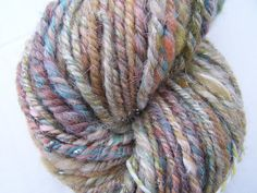 Gorgeous muted colors!  Mystery Handspun AranBulky Weight Natural yarn  by DyeSpinKnitUK, £13.00