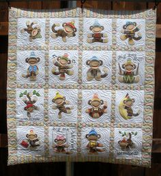 JUMPING MONKEY QUILT - Made by Sharon Morris - quilted by DLQ | Flickr - Photo Sharing!