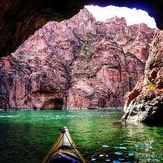 The Emerald Cave on the Colorado River. 45 minutes from Vegas