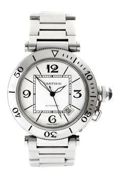 Vintage Cartier Men's 40mm Stainless Steel Pasha de Cartier Watch on @HauteLook