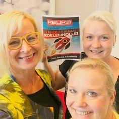 Nyt se starttaa #koelento #keuke #yrittäjät #keravanyrittäjät #futuremarja Kolme blondia messissä - ja miljoona uutta ideaa #holdyourhorses Kiitos @keukesihteeri