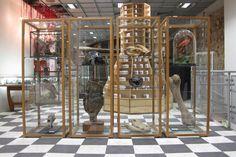 "Artek & Dover Street Market presents System"" by Shigeru Ban dover street market, london Dover Street Market London, London Street, Street Portrait, Street Graffiti, Retail Interior, Commercial Interior Design, Street Furniture, Comme Des Garcons, Display Windows"