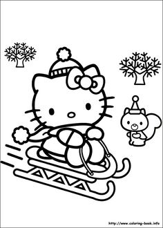 Hello Kitty Birthday Party Coloring Page