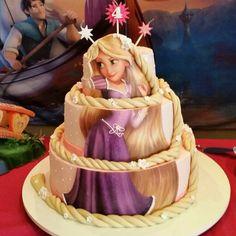 Bolo Rapunzel Enrolados