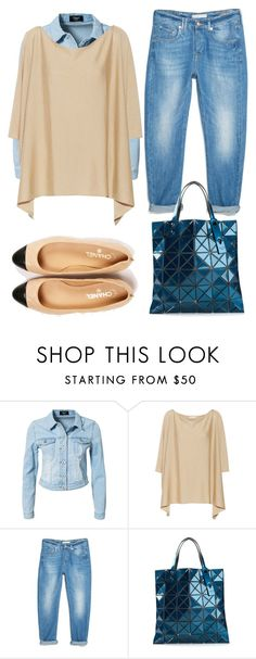 """""""street style #1"""" by mahesti ❤ liked on Polyvore featuring Sisters Point, BACK Label, MANGO, Chanel and Bao Bao by Issey Miyake"""