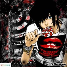 cute gothic boys anime | Anime Emo Boy* Picture #118774231 | Blingee.com