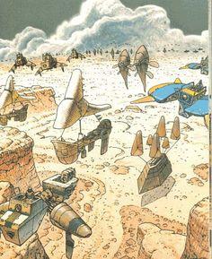 Panzer Dragoon concept art by Moebius.