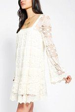 Urban Outfitters - Kimchi Blue Buttercup Lace Bell-Sleeve Dress
