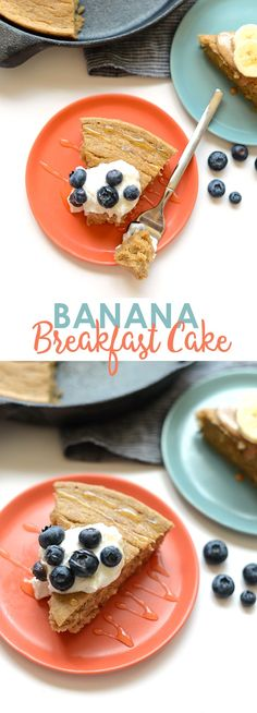 10 Most Misleading Foods That We Imagined Were Being Nutritious! This Banana Breakfast Cake Is About To Be Your Best Friend. It's Made With 100 Whole Grains, All-Natural Sugars And Made In Under 30 Minutes Banana Breakfast, What's For Breakfast, Healthy Breakfast Recipes, Brunch Recipes, Nutritious Breakfast, Brunch Dishes, Healthy Recipes, Healthy Breakfasts, Clean Recipes